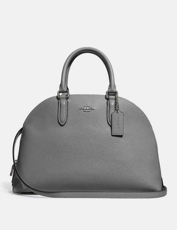 Coach Quinn Satchel Heather Grey/Dark Gunmetal New Featured Online-Only