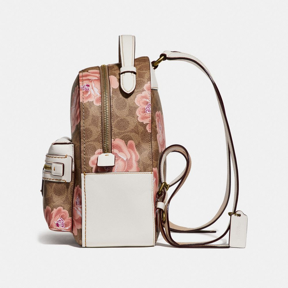 Coach Campus Backpack 23 in Signature Rose Print Alternate View 1