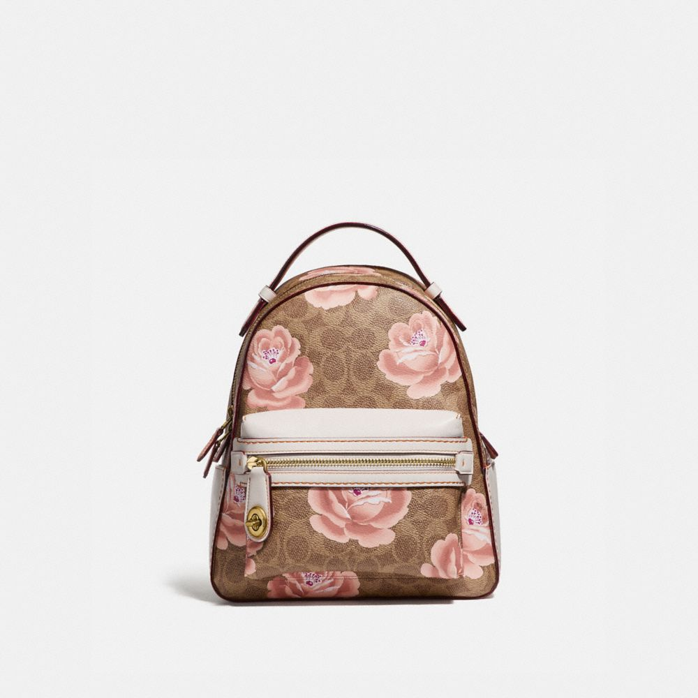 CAMPUS BACKPACK 23 IN SIGNATURE ROSE PRINT