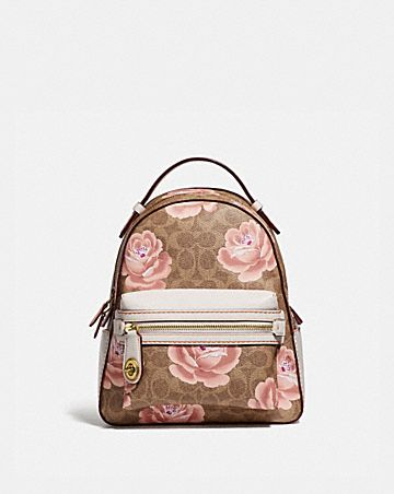 0116788e4100 CAMPUS BACKPACK 23 IN SIGNATURE ROSE PRINT ...