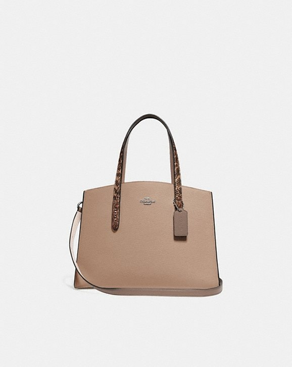 Coach CHARLIE CARRYALL WITH COLORBLOCK SNAKESKIN DETAIL
