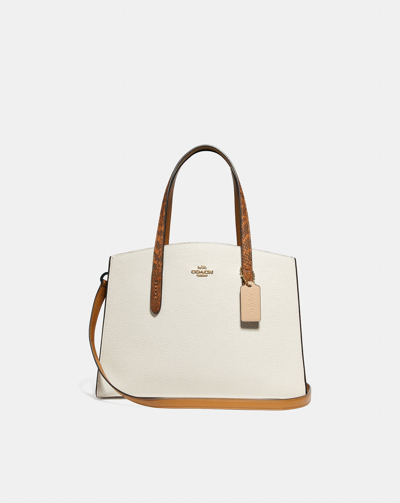 f0d9d3e6b5 Charlie Carryall With Colorblock Snakeskin Handles