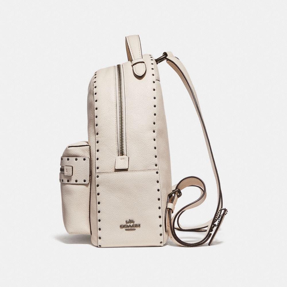 Coach Campus Backpack With Rivets Alternate View 1