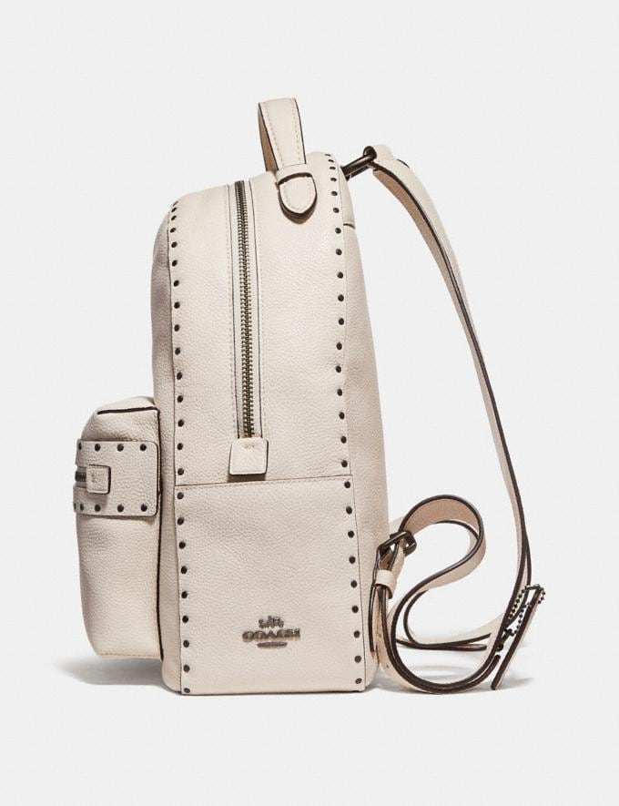 Coach Campus Backpack With Rivets Chalk/Black Copper Women Bags Backpacks Alternate View 1