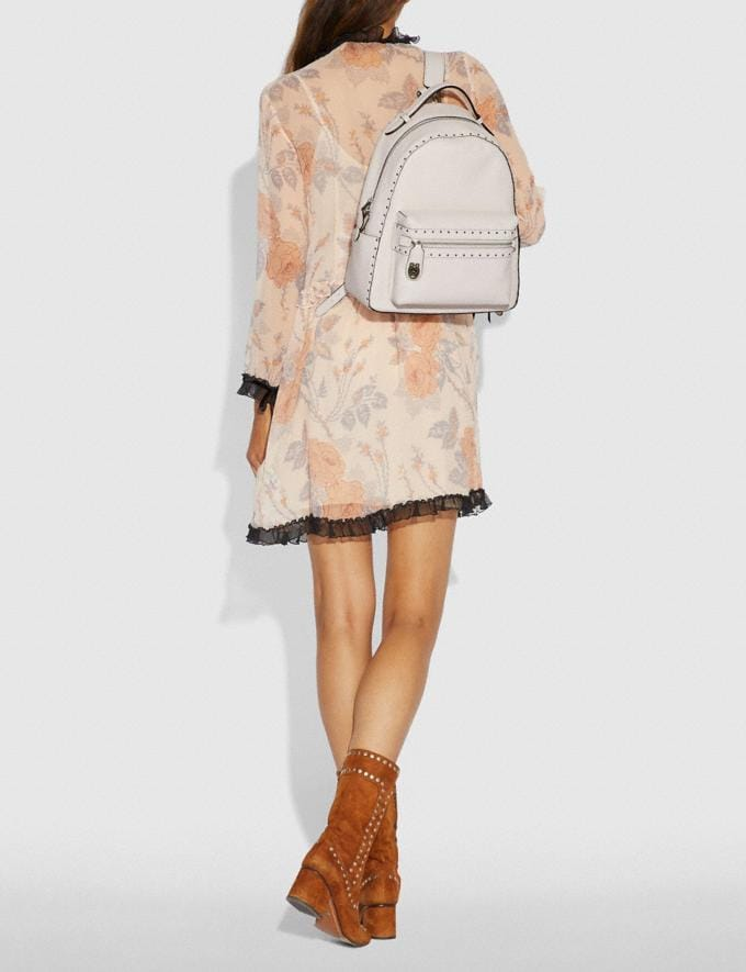 Coach Campus Backpack With Rivets Chalk/Black Copper Women Bags Backpacks Alternate View 3