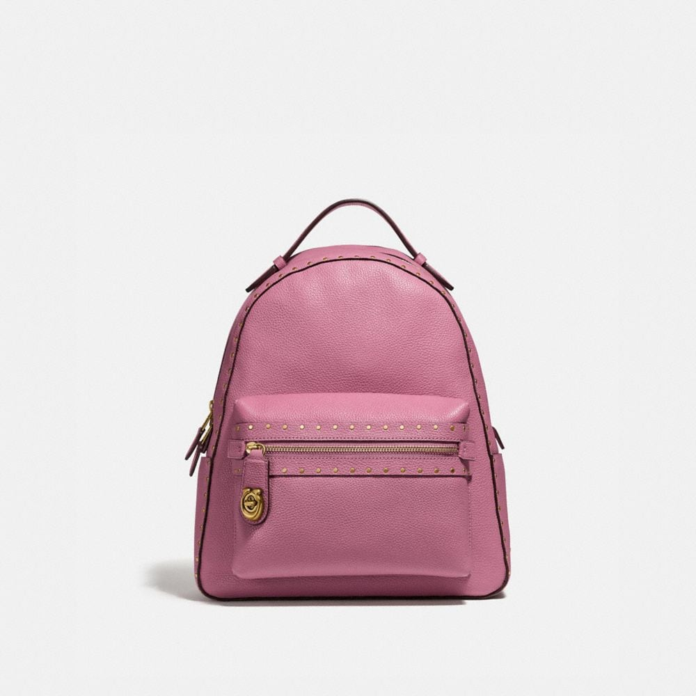 Coach Campus Backpack With Rivets