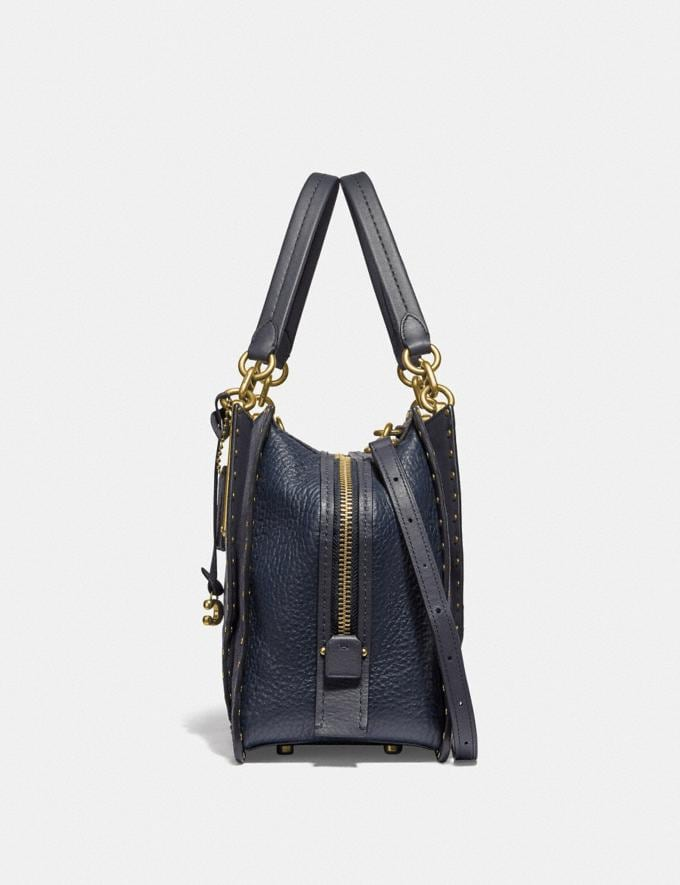 Coach Dreamer 36 With Rivets Midnight Navy/Brass New Featured Online Exclusives Alternate View 1