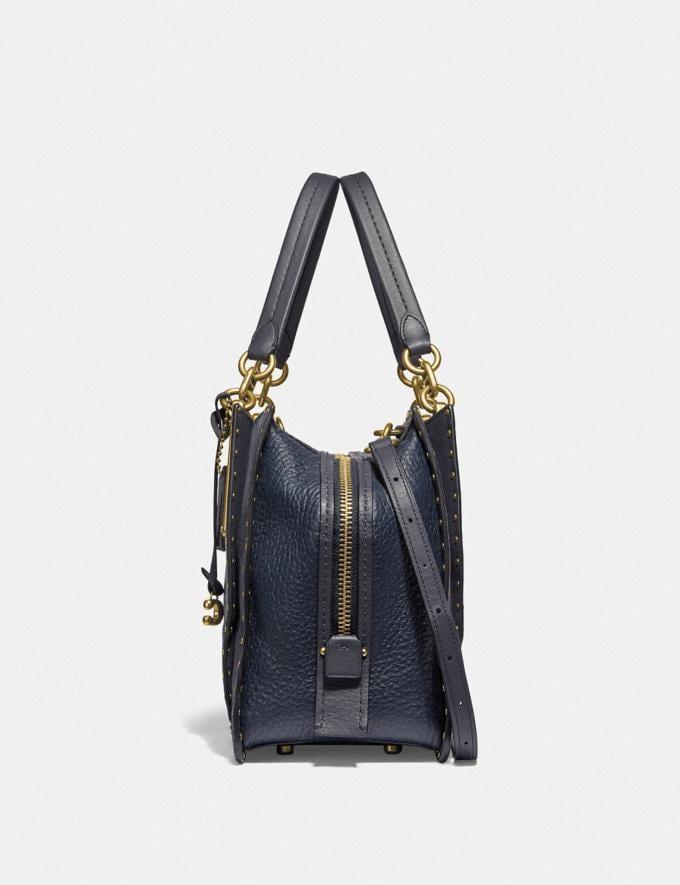 Coach Dreamer 36 With Rivets Midnight Navy/Brass Women Bags Satchels & Carryalls Alternate View 1