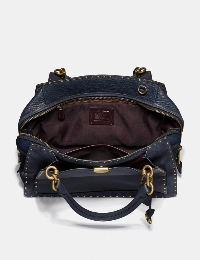 Coach Dreamer 36 With Rivets Midnight Navy/Brass New Featured Online Exclusives Alternate View 2