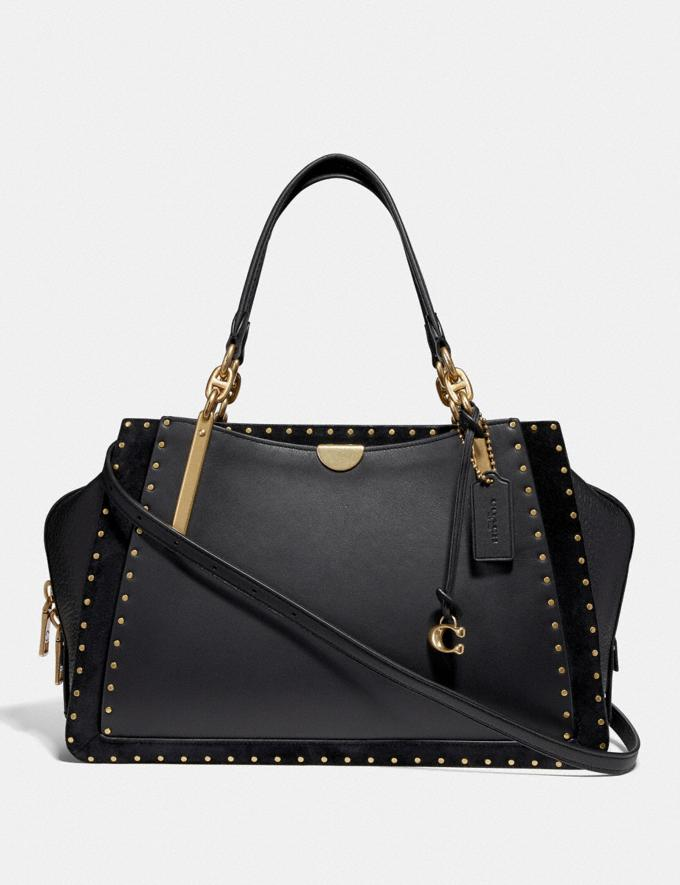 Coach Dreamer 36 With Rivets Black/Brass New Women's New Arrivals View All