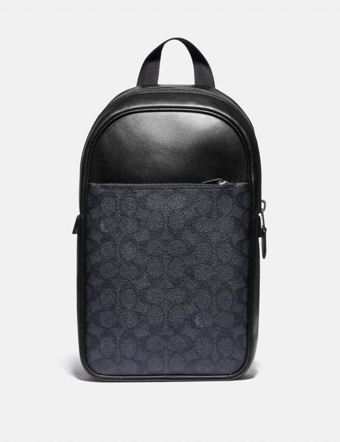Coach Metropolitan Soft Pack in Signature Canvas Qb/Charcoal