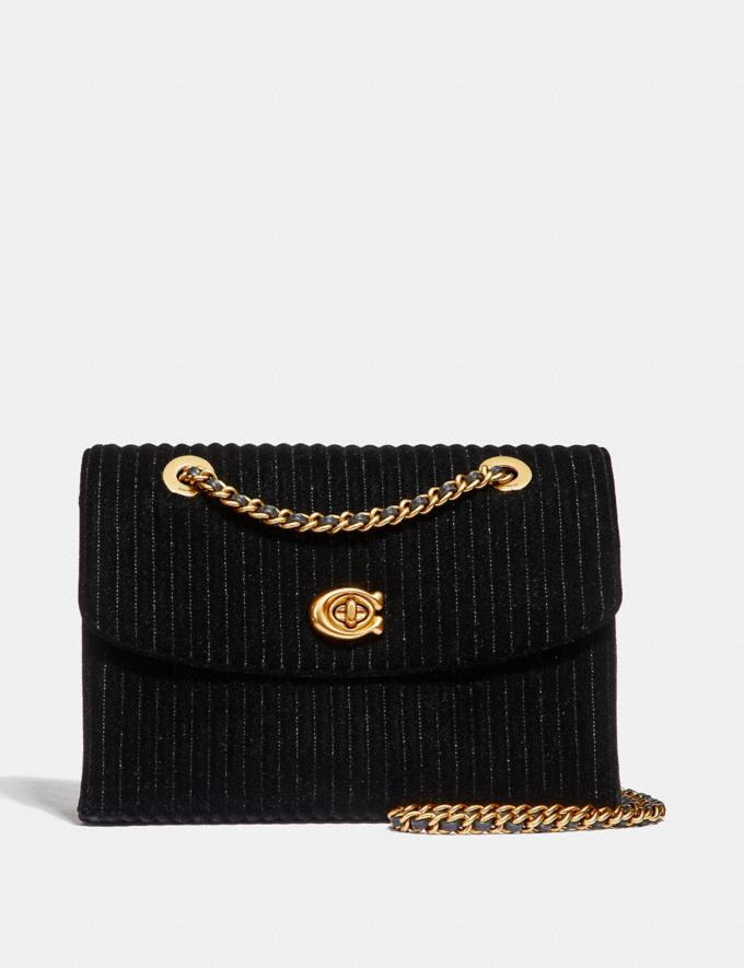 Coach Parker With Quilting Black/Brass New Featured Online-Only