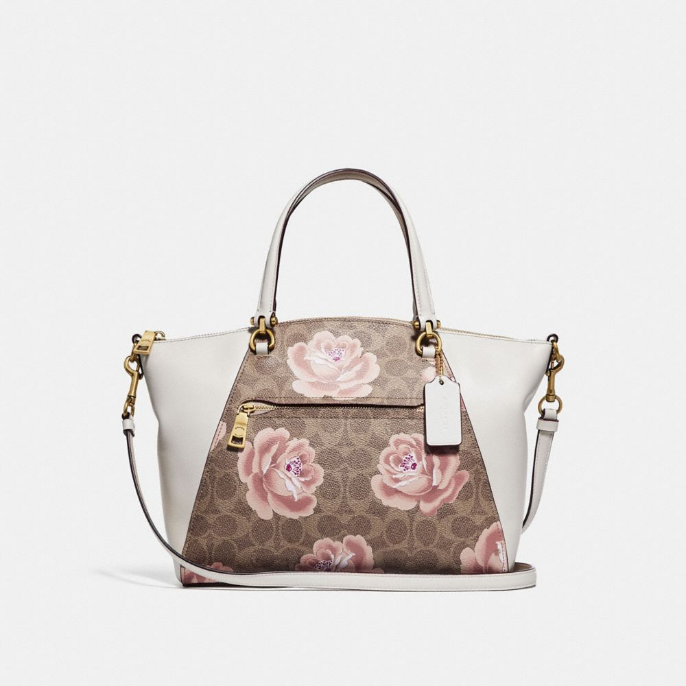 PRAIRIE SATCHEL IN SIGNATURE ROSE PRINT
