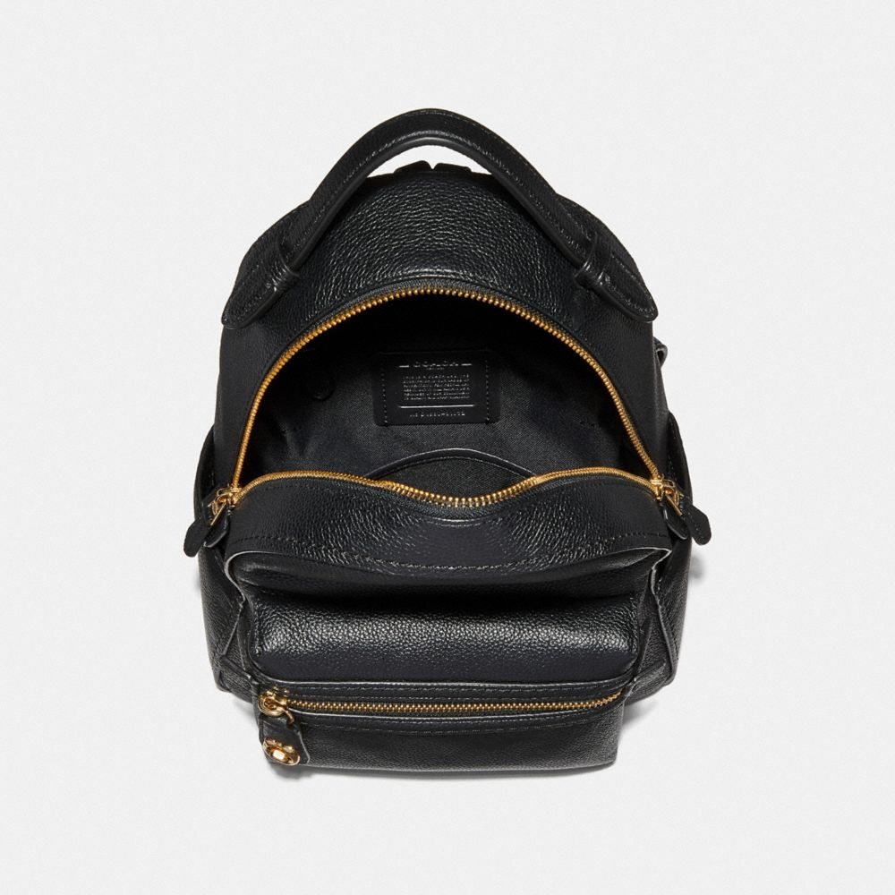 Coach Campus Backpack 23 in Polished Pebble Leather Alternate View 2