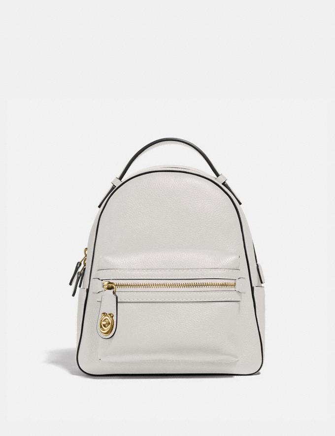 Coach Campus Backpack 23 Chalk/Gold SALE 30% off Select Full-Price Styles Women's