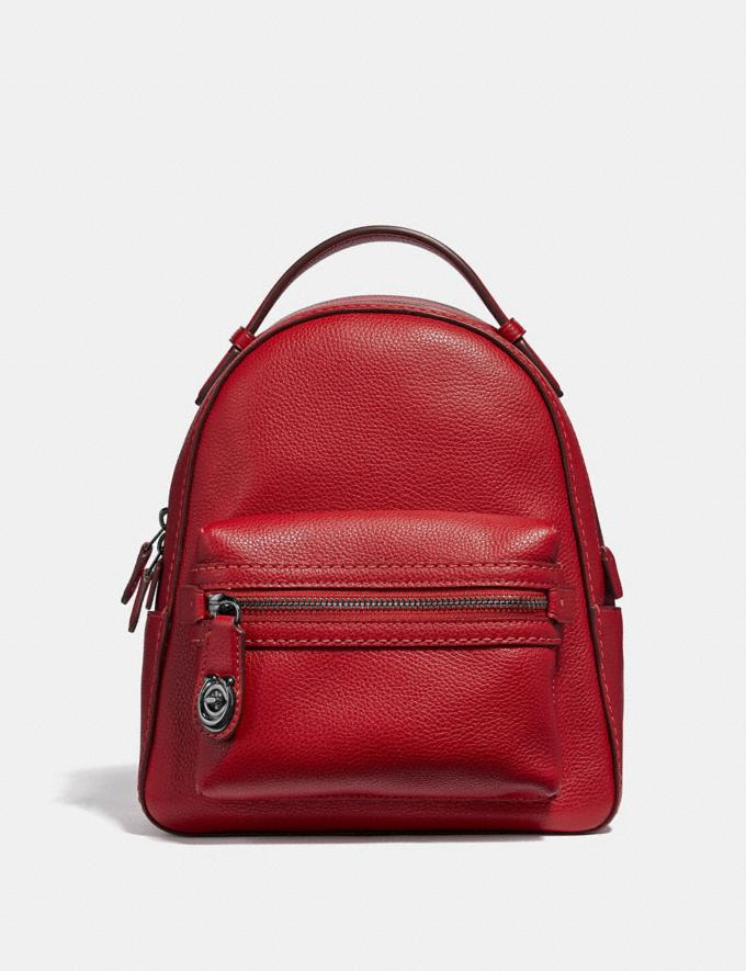 Coach Campus Backpack 23 Gunmetal/Red Apple Gifts For Her Under $300