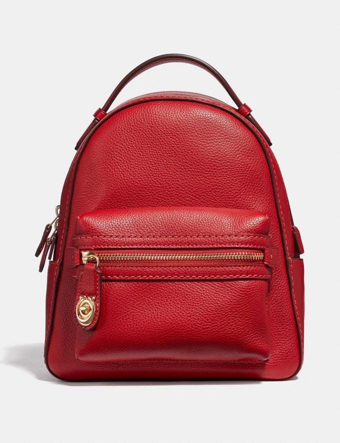 Coach Campus Backpack 23 Jasper/Light Gold Customization For Her The Monogram Shop