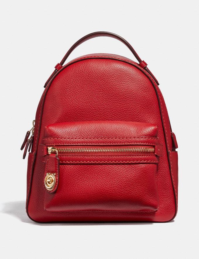Coach Campus Backpack 23 Jasper/Light Gold SALE Online Exclusives