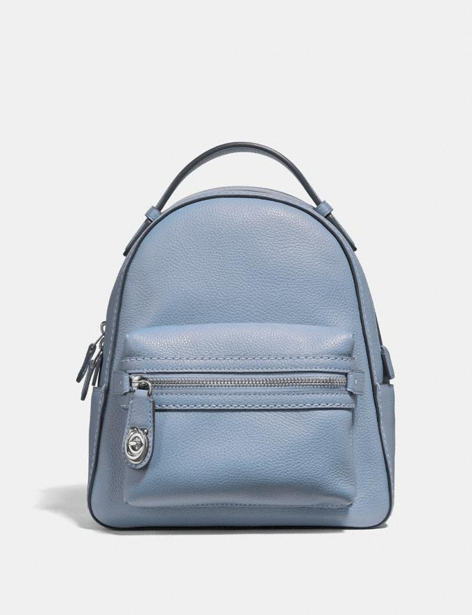 Coach Campus Backpack 23 Silver/Mist Gifts For Her