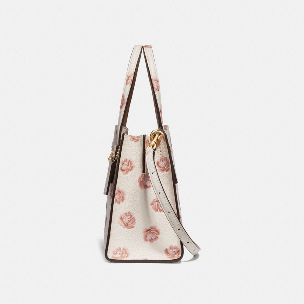 Coach Charlie Carryall 28 With Rose Print Alternate View 1
