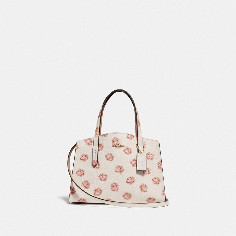 Coach Charlie Carryall 28 With Rose Print