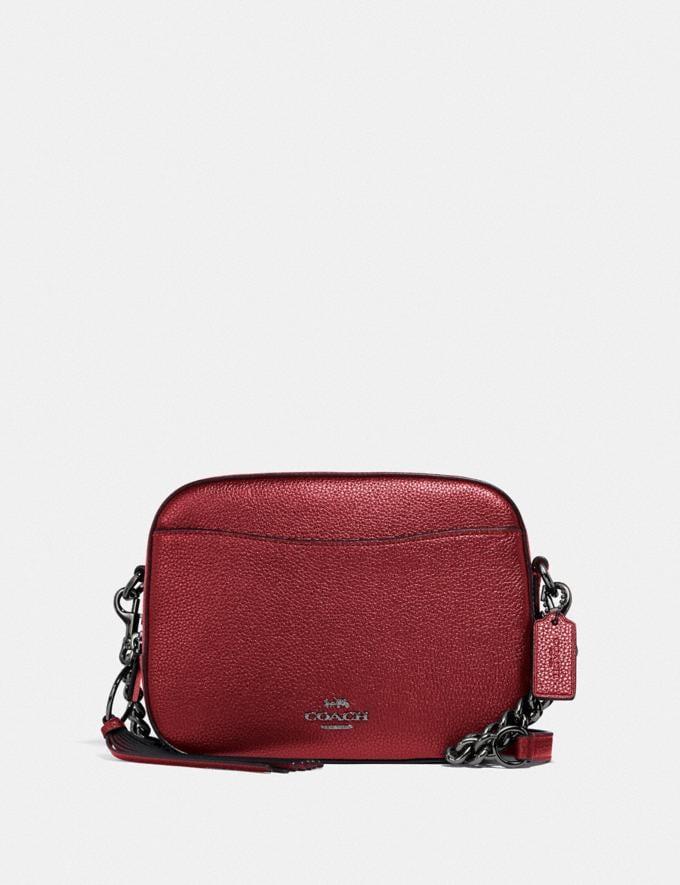 Coach Camera Bag Gm/Metallic Clay Women Bags Crossbody Bags
