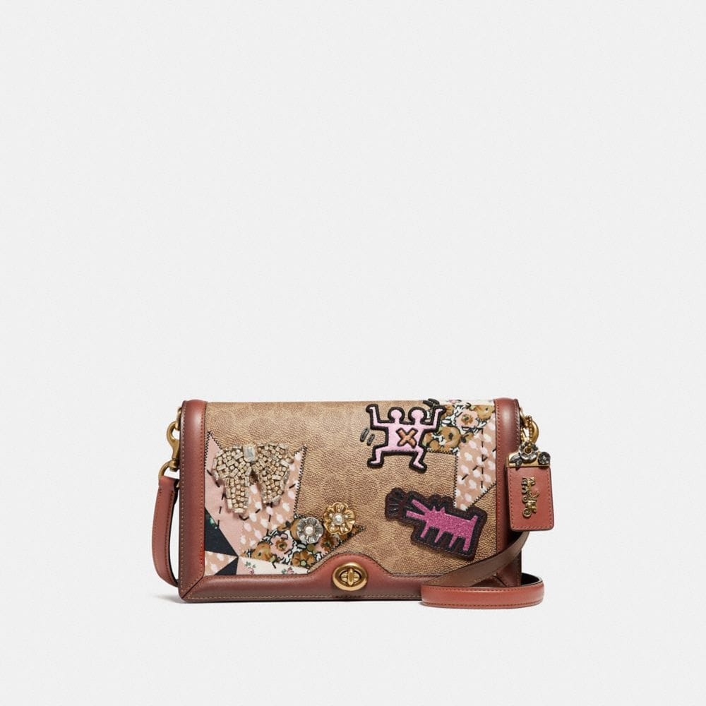 coach x keith haring riley in signature patchwork