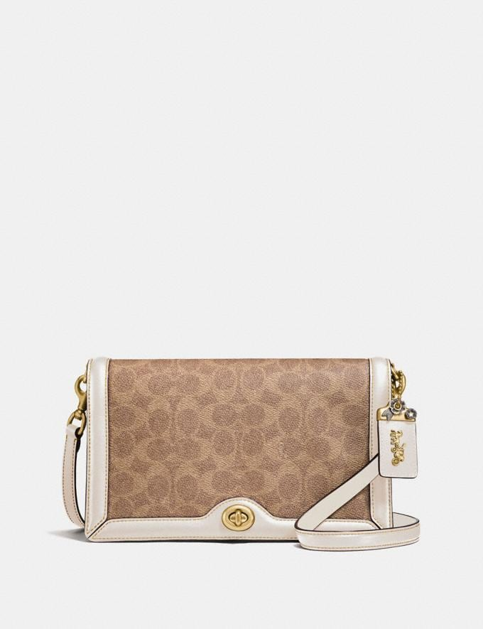 Coach Riley in Signature Canvas Tan/Chalk/Brass Cyber Monday Online Only Cyber Monday Sale Bags