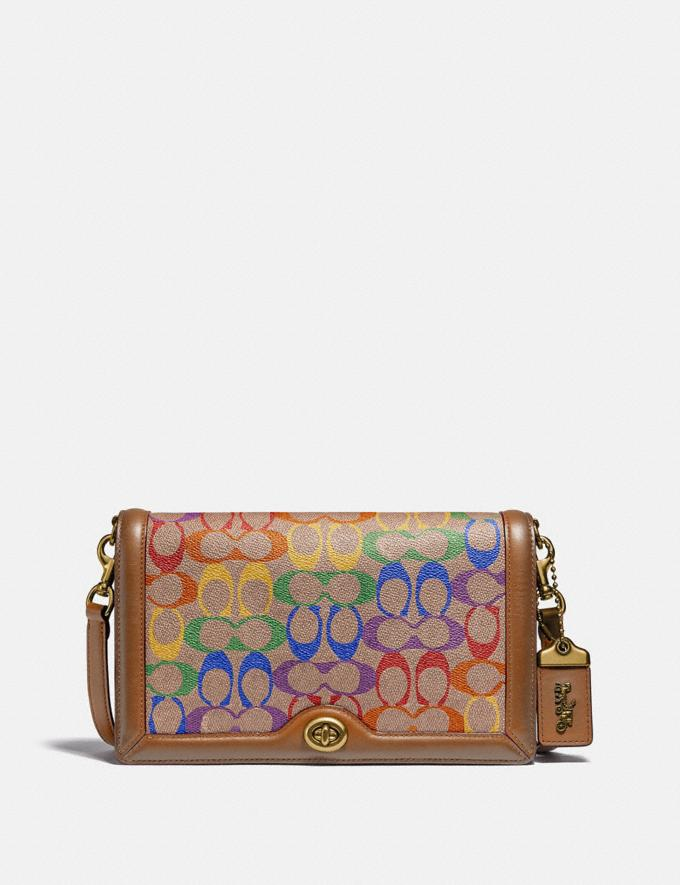 Coach Riley in Signature Canvas Brass/Tan Penny Multi New Featured Coach Pride Collection