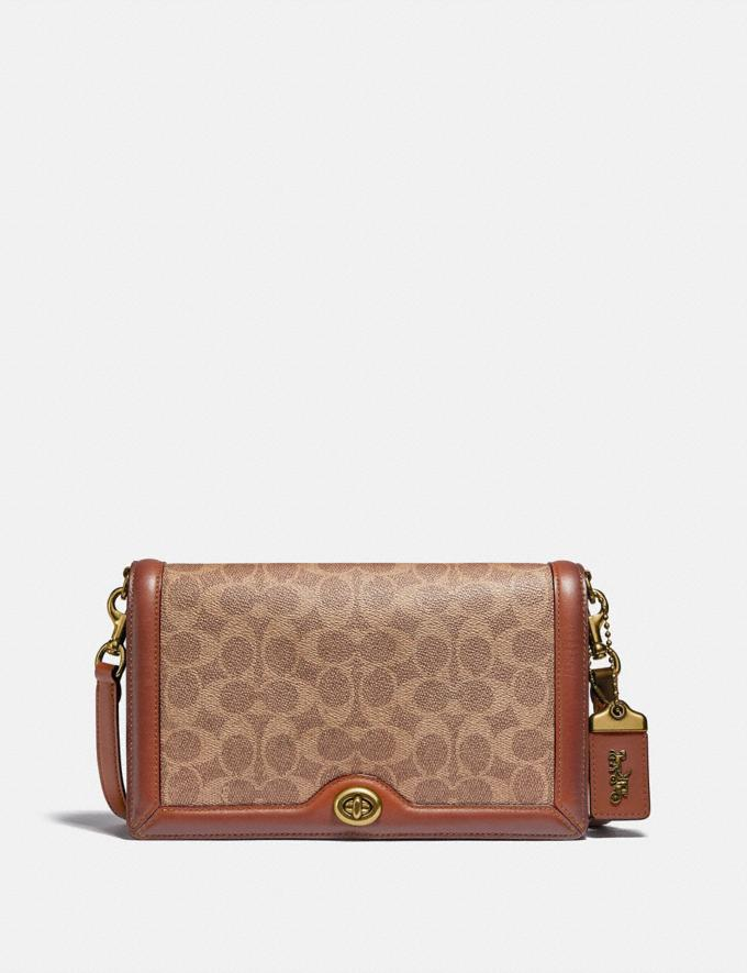 Coach Riley in Signature Canvas Rust/Brass Customization Personalize It Monogram for Her
