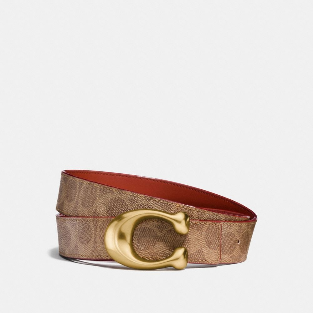 Coach Sculpted Signature Reversible Belt