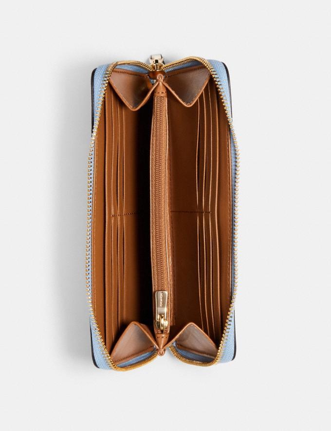 Coach Accordion Zip Wallet With Orange Print Im/Orange/Blue Accessories Wallets Alternate View 1