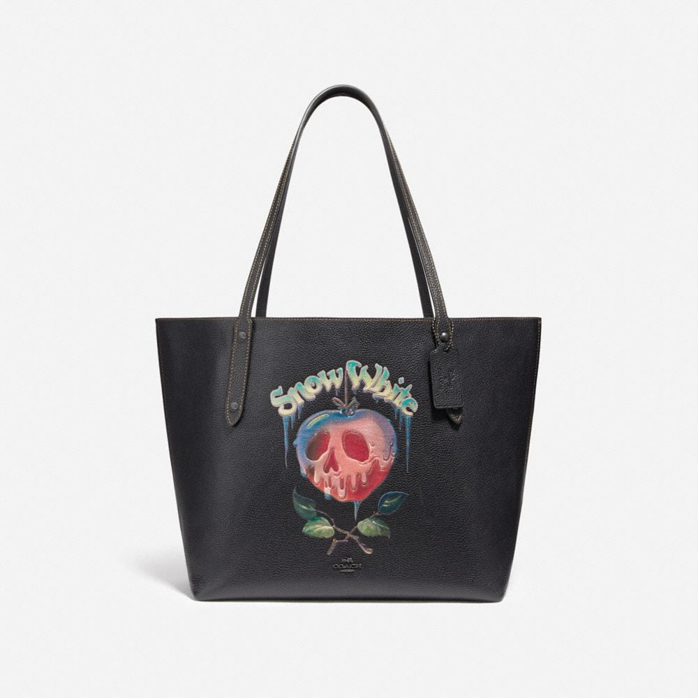 Coach Disney X Coach Market Tote With Poison Apple Graphic