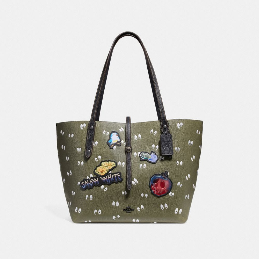 DISNEY X COACH MARKET TOTE WITH SPOOKY EYES PRINT