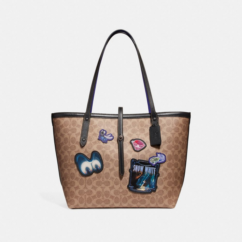DISNEY X COACH MARKET TOTE IN SIGNATURE PATCHWORK