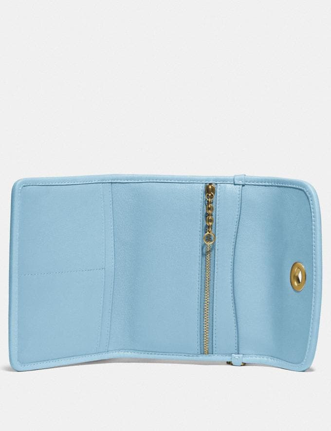 Coach Turnlock Flap Wallet B4/Waterfall New Women's New Arrivals Alternate View 2