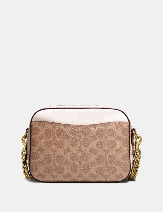 Coach Camera Bag in Signature Canvas Tan/Chalk/Brass Women Collection Signature Styles Alternate View 1