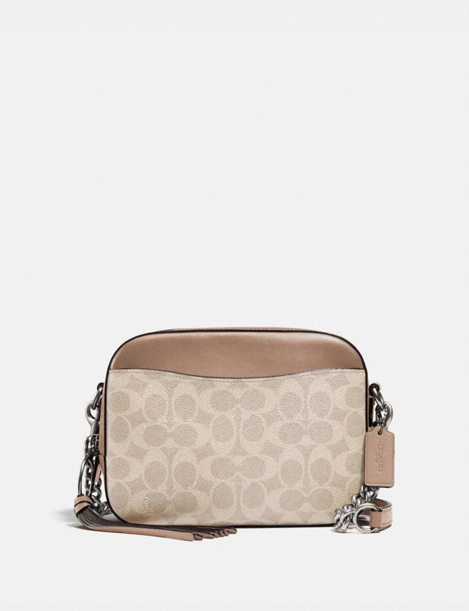 Coach Camera Bag in Signature Canvas Lh/Sand Taupe New Featured Signature Styles