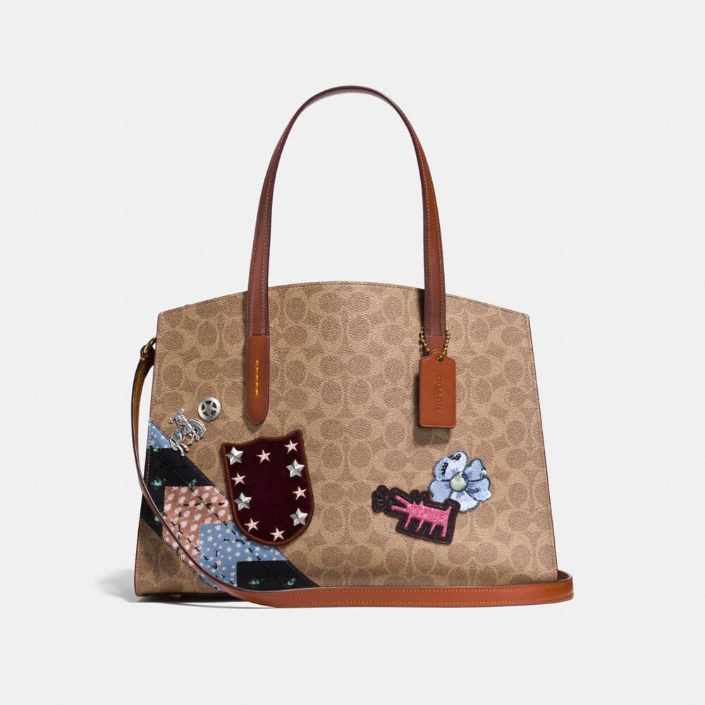 Coach X Keith Haring Charlie Carryall In Signature Patchwork by Coach