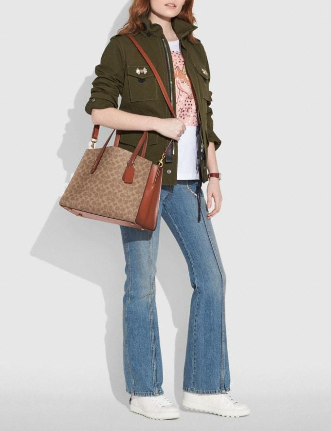 Coach Charlie Carryall in Signature Canvas Chalk/Brass New Women's New Arrivals Alternate View 3