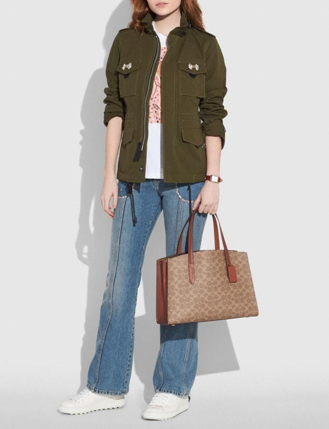 Coach Charlie Carryall in Signature Canvas Chalk/Brass New Women's New Arrivals Alternate View 4