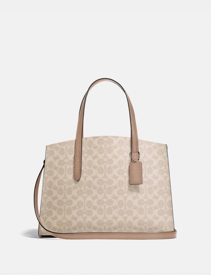 Coach Charlie Carryall in Signature Canvas Lh/Sand Taupe New Women's New Arrivals