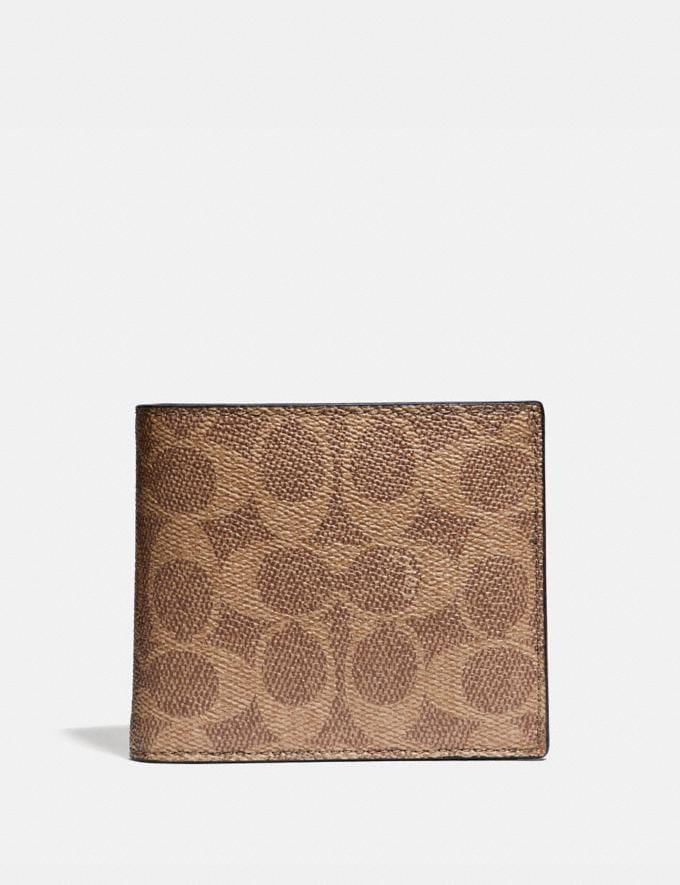 Coach 3-In-1 Wallet in Signature Canvas Khaki 30% off Select Full-Price Styles
