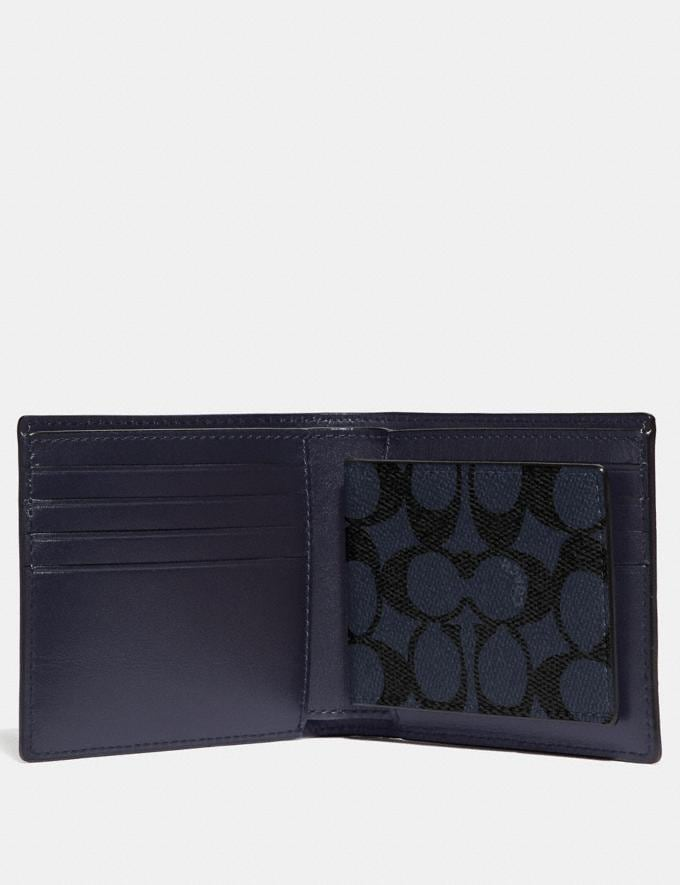 Coach 3-In-1 Wallet in Signature Canvas Midnight Men Wallets Card Cases Alternate View 1
