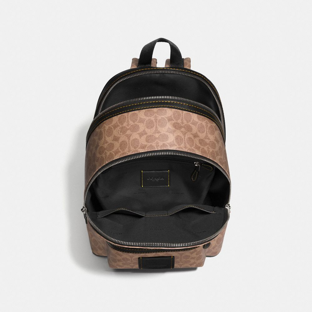 Coach Academy Backpack in Signature Coated Canvas Alternate View 2
