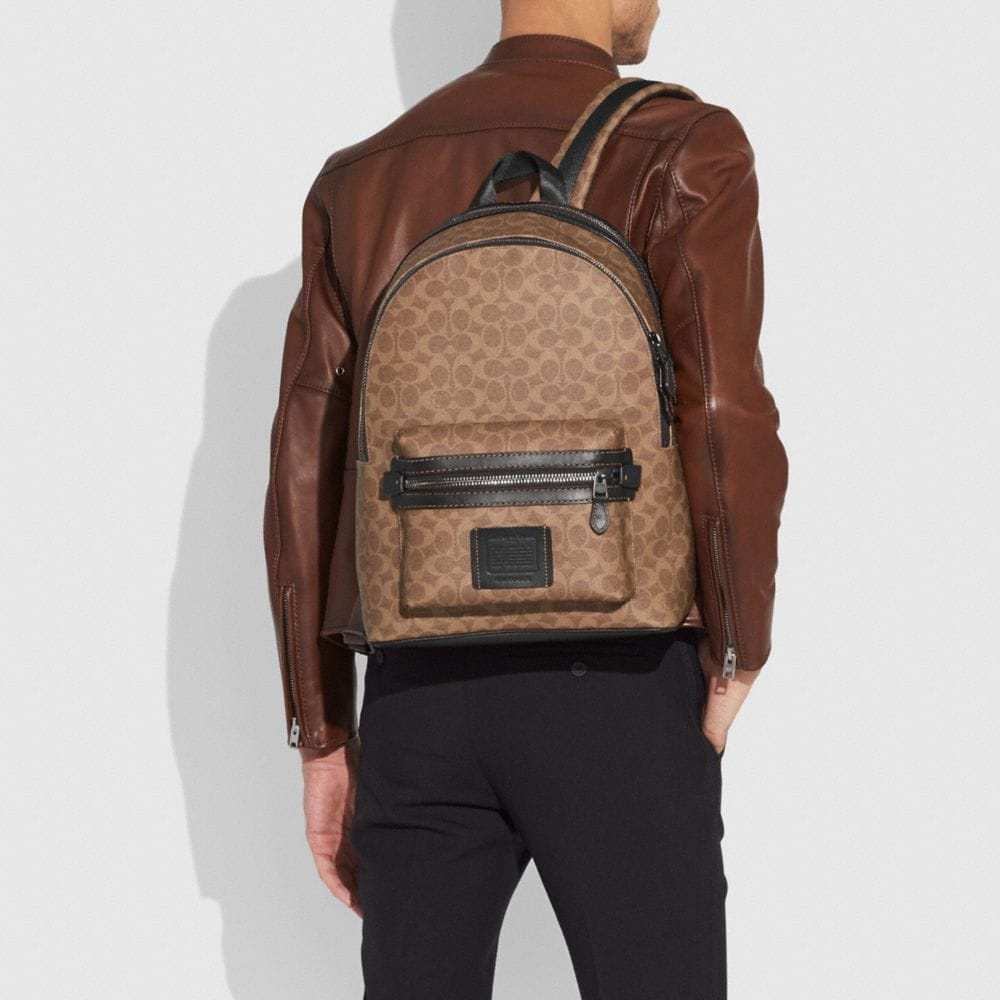 Coach Academy Backpack in Signature Coated Canvas Alternate View 3
