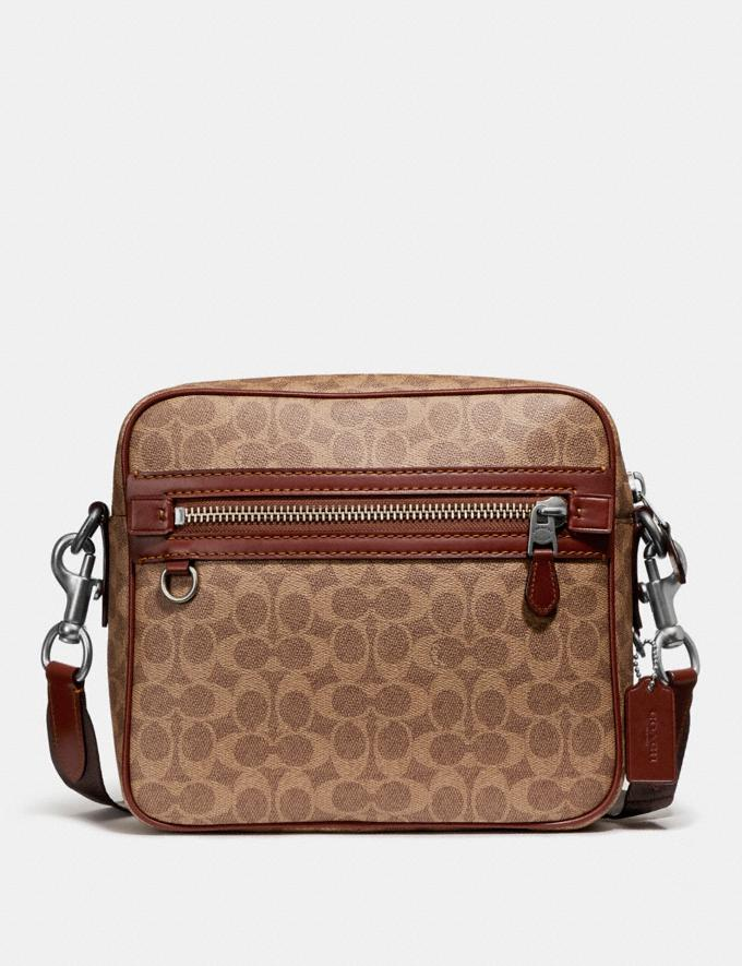 Coach Dylan in Signature Canvas Light Antique Nickel/Khaki Seasonal Offers Men Bags