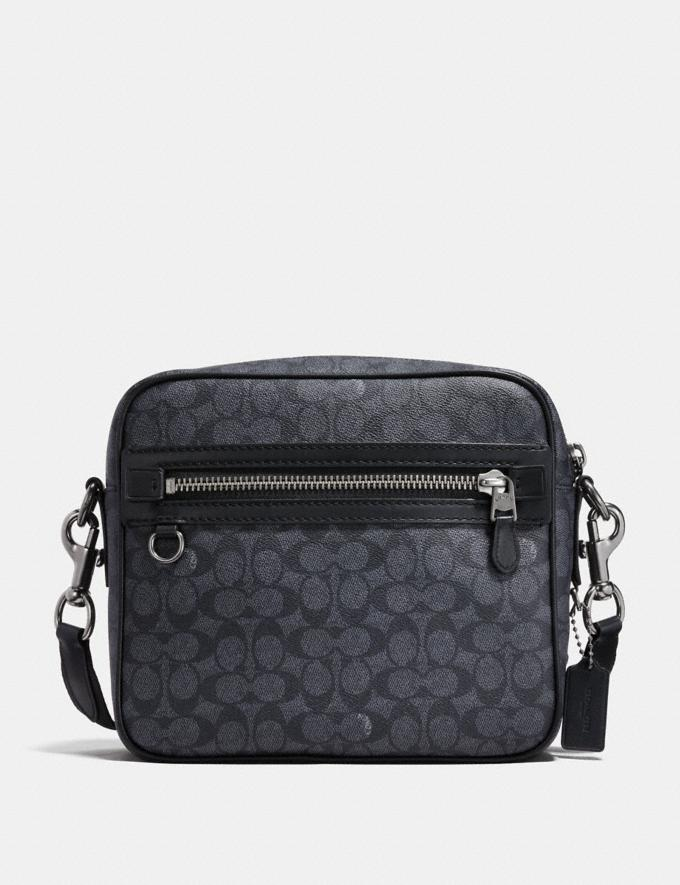 Coach Dylan in Signature Canvas Black Antique Nickel/Charcoal Cyber Monday Men's Cyber Monday Sale Bags