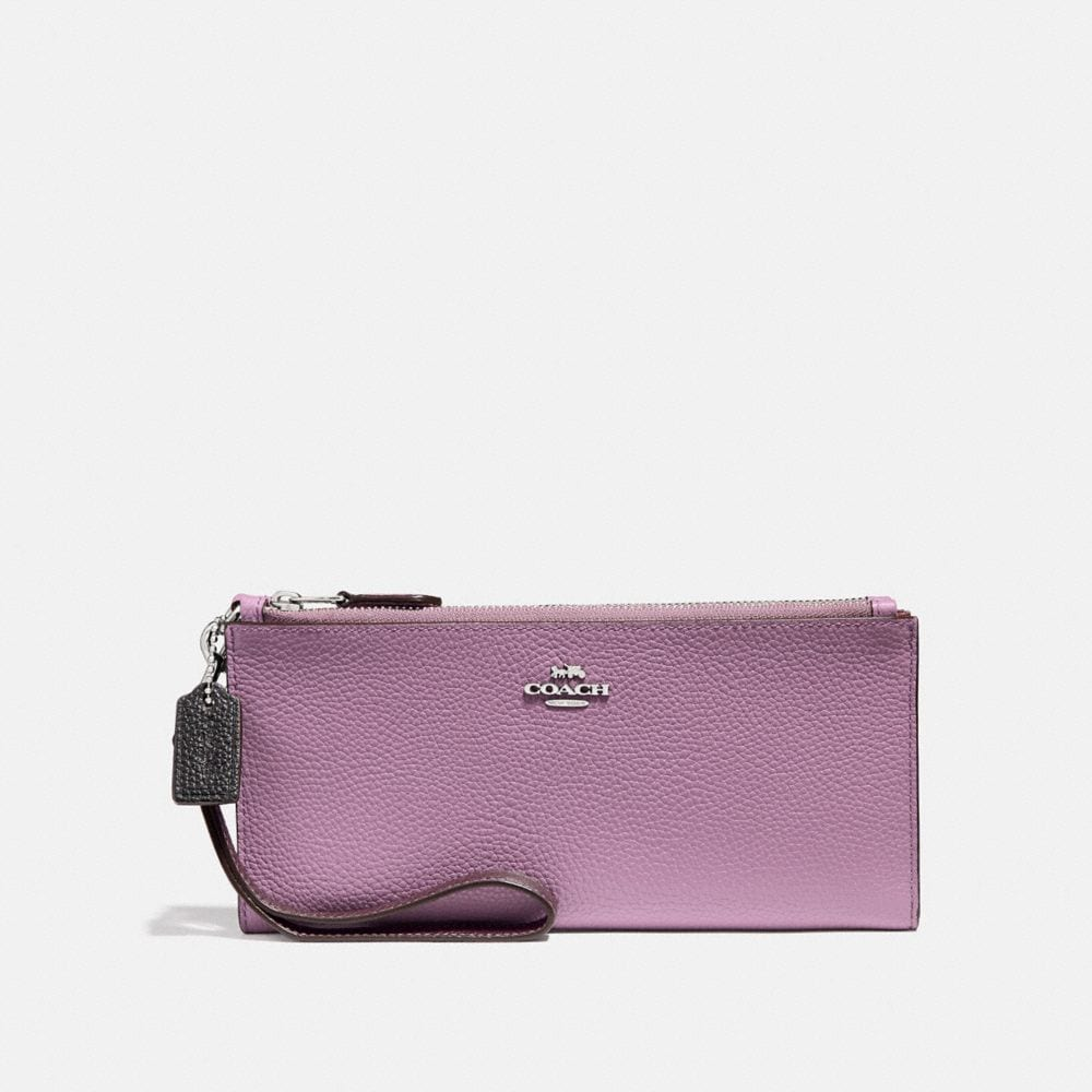 double zip wallet in colorblock