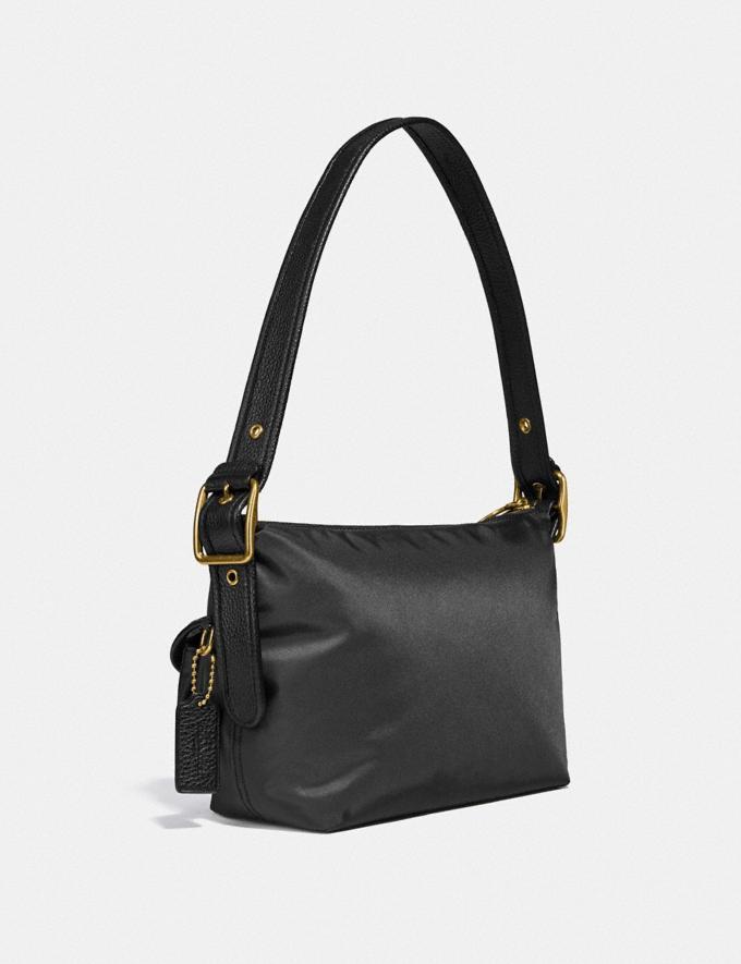 Coach Cargo Shoulder Bag With Vintage Rose Print Interior Brass/Black Women Handbags Shoulder Bags & Hobos Alternate View 1